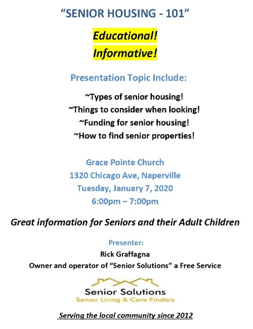 Senior Housing Information Flyer